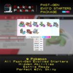 Past-Gen Evolved Starters Package (9x, 6IV, Shiny, Battle Ready) - Pokemon Sword and Shield