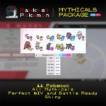 Mythical Package (11x, 6IV, Shiny, Event, Battle Ready) - Pokemon Sword and Shield